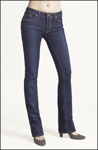 Hitewash Barely Bootcut from hello! Skinny Jeans®